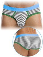 Modus Vivendi - Striped Flash Brief - Grey
