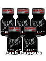 5 x SUPER RUSH BLACK small - PACK