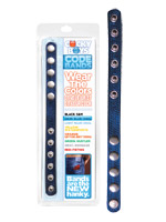 CockyBoys Leather Code Band - Dark Blue - Anal