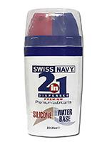 Swiss Navy 2 in 1 a base di silicone/acqua (50 ml)