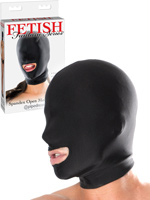 Fetish Fantasy - Spandex Open Mouth Hood Black
