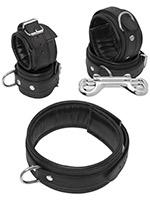 Leather Bondage Set 5 Pieces Black