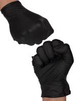 Guanti in latex nero (10 pezzi)