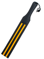 Back Leather Slapper With Yellow Strips