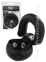 Push Xtreme Leather - Nevada Weighted Double Cock & Ball Strap