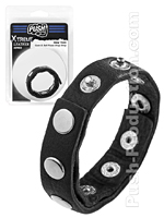 Push Xtreme Leather - New York Cock & Ball Rivets Snap Strap