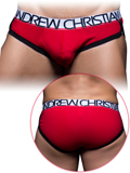 Andrew Christian - Show-It Tagless Cotton Stretch Brief - Red