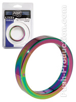 Push Steel - High Polished Rainbow Cockring - 10mm